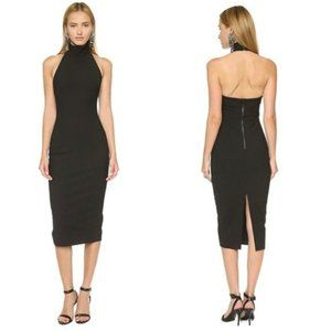 Elizabeth & James Kara Black Halter Midi Dress   2